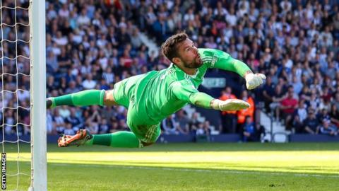 Ben Foster playing for West Brom