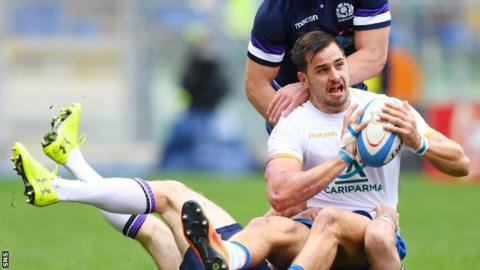 Blair Kinghorn's hat-trick gives Scotland victory over Italy