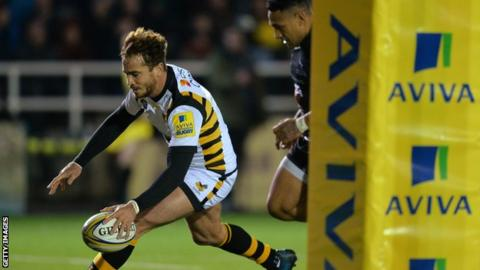 Danny Cipriani scores for Wasps