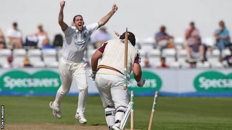 Ryan Sidebottom has now taken 34 wickets in just nine first-class games after his match haul of 10-96 against Northants