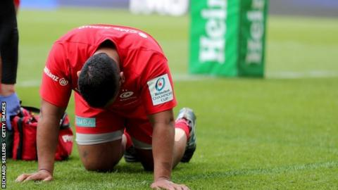 Mako Vunipola lasted just half an hour of Saturday's the Champions Cup final win over Leinster at St James' Park