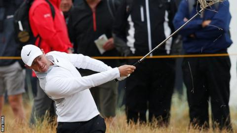 Rory McIlroy was among the early starters in Friday's second round at Carnoustie