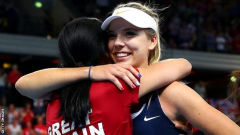 Katie Boulter and Anne Keothavong
