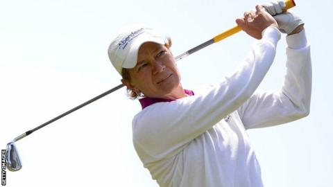 Catriona Matthew in the final round in San Francisco