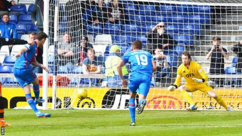 Greg Tansey converts a penalty for Inverness against Kilmarnock
