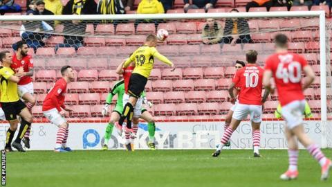 Luke Varney's scores the goal to ensure Burton's safety