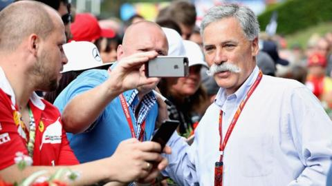 Formula 1 boss Chase Carey