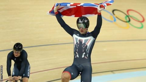 Callum Skinner wins gold in the Rio Olympics team sprint