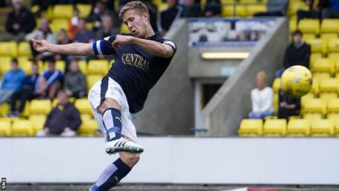 Will Vaulks scores for Falkirk against Livingston