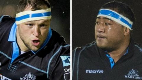 Glasgow Warriors props Ryan Grant and Sila Puafisi
