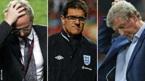 Sven Goran Eriksson, Fabio Capello and Roy Hodgson