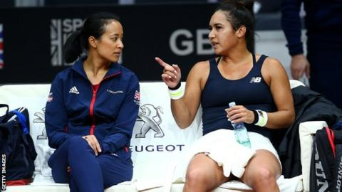 Anne Keothavong and Heather Watson