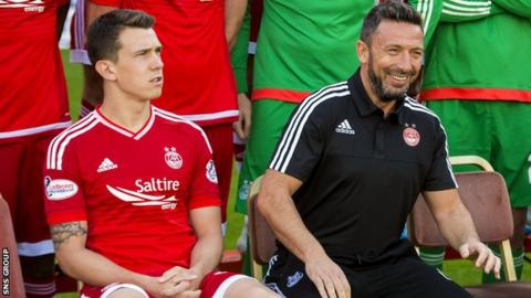 Ryan Jack and Derek McInnes (right)