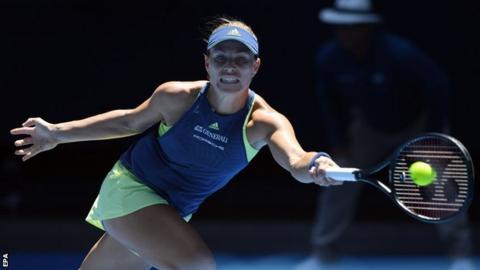Kerber battles back to reach Australian Open quarter-finals