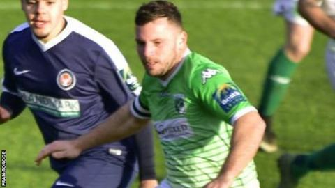 Guernsey FC forward Craig Young