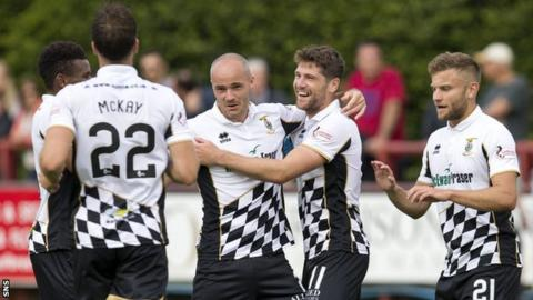 Inverness Caledonian Thistle celebrate