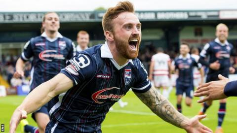 Craig Curran fired Ross County in front