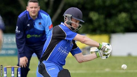 Chris Dougherty batting for CIYMS in their match against CSNI