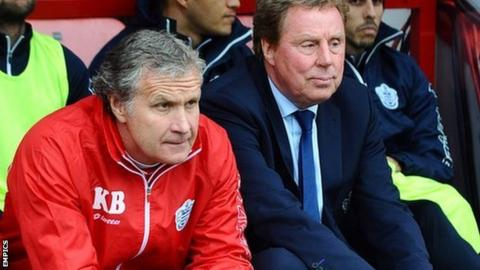 Kevin Bond (left) and Harry Redknapp