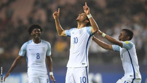 England Under 20s celebrate