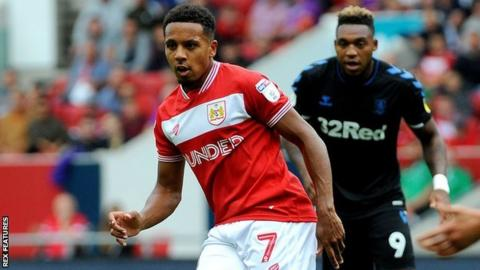 Korey Smith in action for Bristol City
