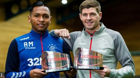 Rangers fans react to Alfredo Morelos winning Player of the Month