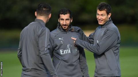 new arrival 35c2e e03b7 Henrikh Mkhitaryan: Arsenal midfielder has not travelled to ...