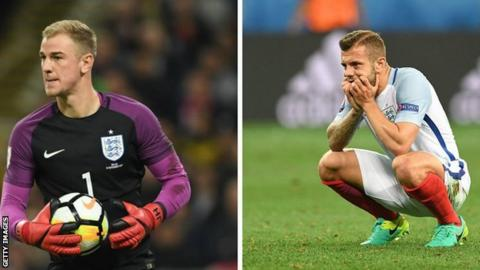 Joe Hart and Jack Wilshere