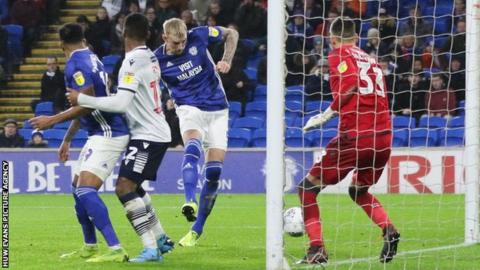 Cardiff had led briefly though Aden Flint 's goal