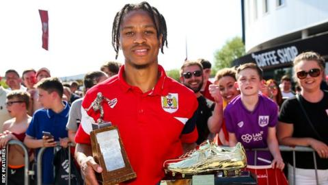 Bristol City forward Bobby Reid