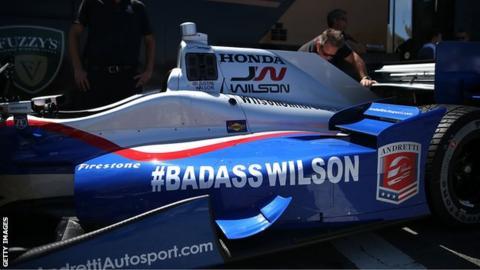 Justin Wilson's number 25 Honda
