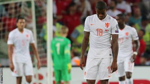 Netherlands players look dejected