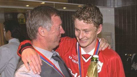 Sir Alex Ferguson and Ole Gunnar Solskjaer