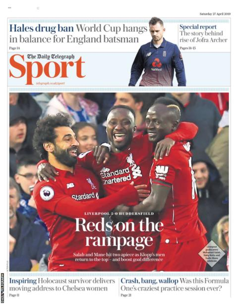 Saturday's Daily Telegraph Sport