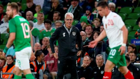 Mick McCarthy looks delighted during the Republic of Ireland's win over Bulgaria