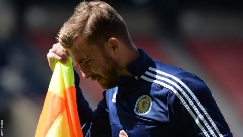 James Morrison injured his MCL playing for Scotland against England in June
