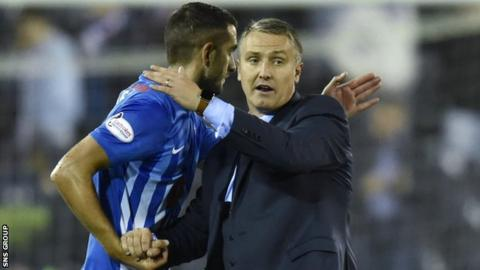Kilmarnock manager Lee Clark with Gary Dicker