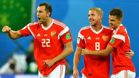 Russia 3-1 Egypt
