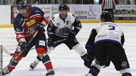 Dundee fought hard to take a 2-1 victory over Glasgow Clan on Sunday