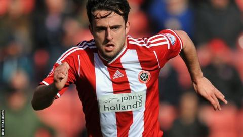 Jose Baxter in action for Sheffield United
