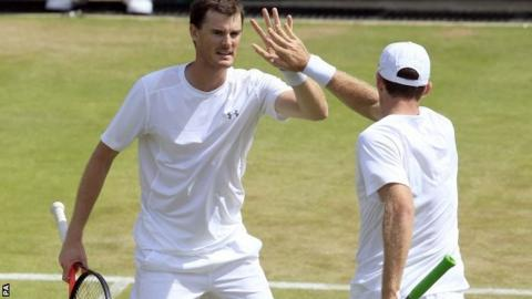Jamie Murray and his doubles partner John Peers