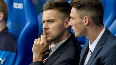 Darren McGregor (left) on the Rangers bench