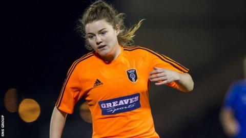 Clare Shine was on target for Glasgow City