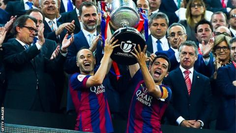 Barcelona are the holders of the Copa del Rey