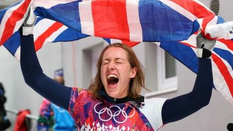 British skeleton athlete Lizzy Yarnold