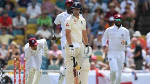 Rory Burns is bowled