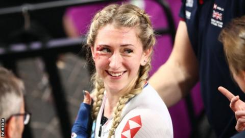 Laura Kenny involved in dramatic crash at Track Cycling World Championships