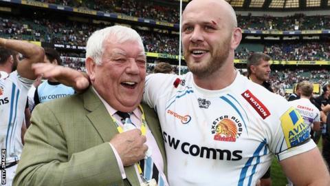 Tony Rowe with Jack Yeandle