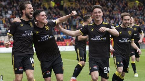Livingston players celebrate