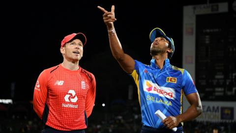 Eoin Morgan and Dinesh Chandimal